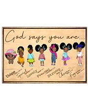God say kids 24x16 Poster front