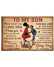 To my son 2 24x16 Poster front
