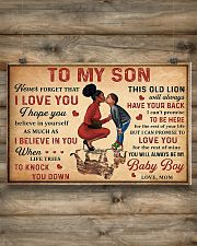 To my son 2 24x16 Poster poster-landscape-24x16-lifestyle-15