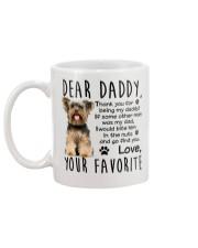 Yorkie Dad Mug back