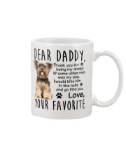Yorkie Dad Mug tile
