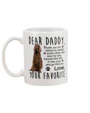 irish Setter  Dad Mug back