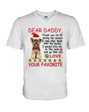 Yorkie DAD V-Neck T-Shirt thumbnail