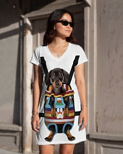 Dachshund Lover All-over Dress aos-dress-front-lifestyle-1