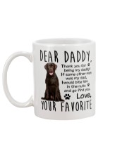 Chocolate labrador Dad Mug back