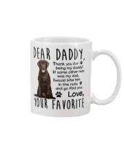 Chocolate labrador Dad Mug front