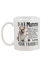 bulldog mummy Mug back