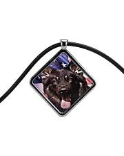 German Shepherd Cord Diamond Necklace thumbnail