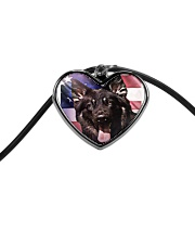 German Shepherd Cord Heart Necklace thumbnail