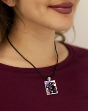 German Shepherd Cord Rectangle Necklace aos-necklace-square-cord-lifestyle-1