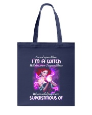 Superstitious Witch Tote Bag thumbnail