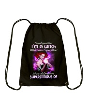 Superstitious Witch Drawstring Bag thumbnail