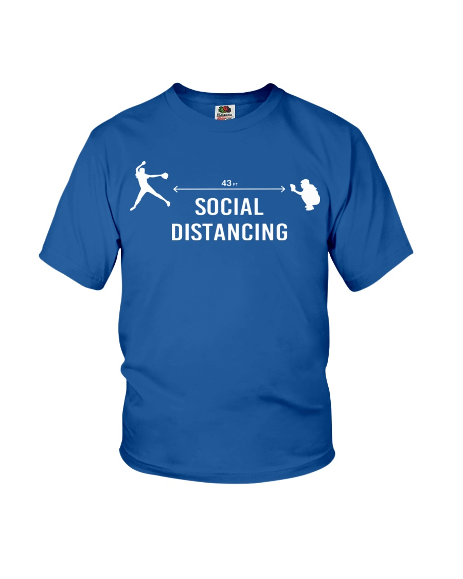 Social Distancing Softball 43 FT Youth T-Shirt