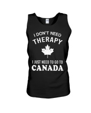I Don't Need Therapy I Just Need To Go To Canada Unisex Tank thumbnail