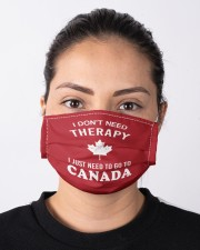 I Don't Need Therapy I Just Need To Go To Canada Cloth face mask aos-face-mask-lifestyle-01