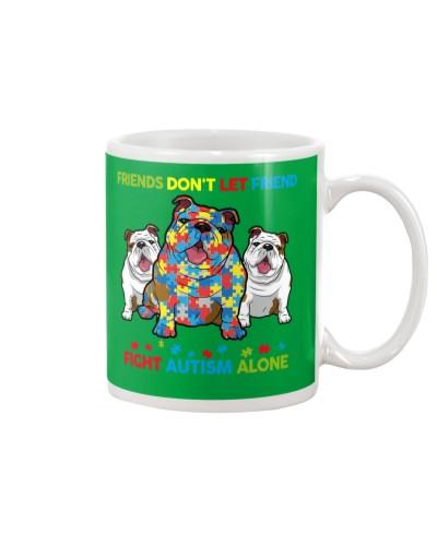 Autism Awareness Bulldog Friends