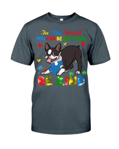 Autism Awareness Boston Terrier Be Kind