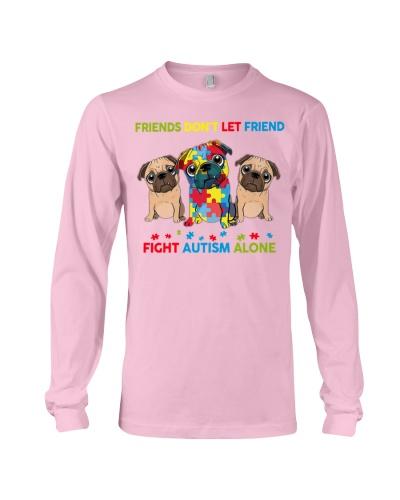 Autism Awareness Pug Friends