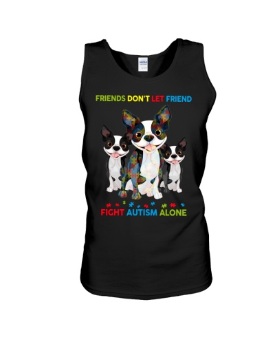 Autism Awareness Boston Terrier Friends