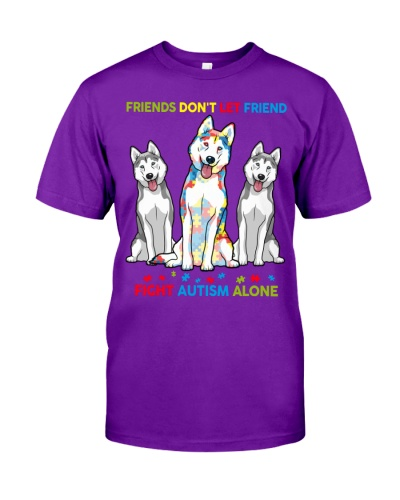 Autism Awareness Husky Friends