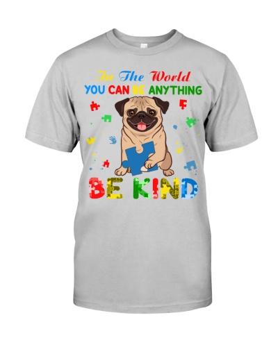 Autism Awareness Pug Be Kind