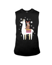 Sloth Riding Llama Funny Christmas T Shirt Sleeveless Tee thumbnail