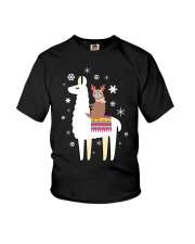 Sloth Riding Llama Funny Christmas T Shirt Youth T-Shirt thumbnail