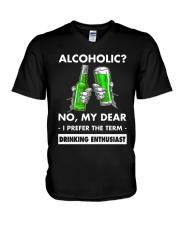 Alcoholic V-Neck T-Shirt thumbnail