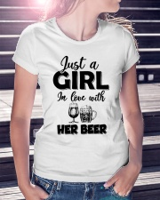 just a girl in love with her beer Ladies T-Shirt lifestyle-women-crewneck-front-7