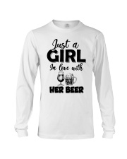 just a girl in love with her beer Long Sleeve Tee thumbnail