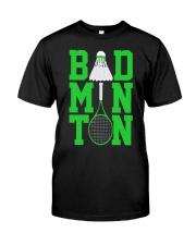 Badminton Rackets Green Classic T-Shirt front