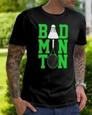 Badminton Rackets Green Classic T-Shirt lifestyle-mens-crewneck-front-7