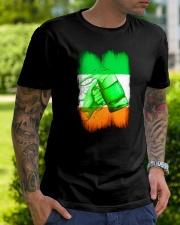 St Patrick Flag - Beer Splash IE Classic T-Shirt lifestyle-mens-crewneck-front-7