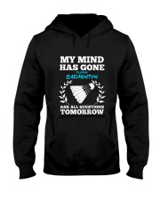 My Mind Has Gone Playing Badminton Hooded Sweatshirt thumbnail