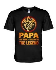 Papa The Man The Myth The Legend V-Neck T-Shirt thumbnail