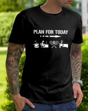 Plan For Today - Badminton V2 Classic T-Shirt lifestyle-mens-crewneck-front-7