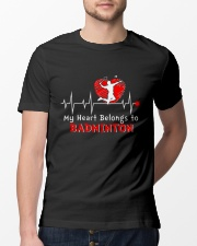 My Heart Belongs To Badminton Classic T-Shirt lifestyle-mens-crewneck-front-13