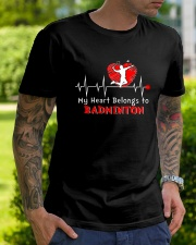 My Heart Belongs To Badminton Classic T-Shirt lifestyle-mens-crewneck-front-7