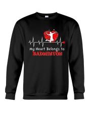 My Heart Belongs To Badminton Crewneck Sweatshirt thumbnail