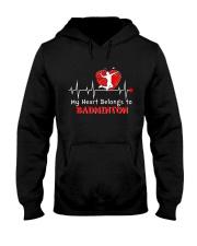 My Heart Belongs To Badminton Hooded Sweatshirt thumbnail