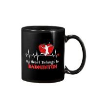 My Heart Belongs To Badminton Mug thumbnail