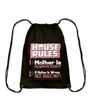 House Rules Mother Drawstring Bag thumbnail