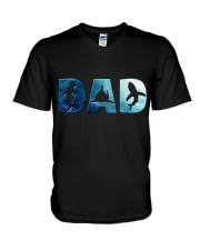 Shark Dad V-Neck T-Shirt thumbnail