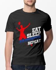 Eat Sleep Badminton Repeat Classic T-Shirt lifestyle-mens-crewneck-front-13