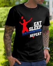 Eat Sleep Badminton Repeat Classic T-Shirt lifestyle-mens-crewneck-front-7