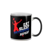 Eat Sleep Badminton Repeat Color Changing Mug thumbnail
