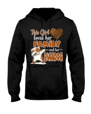 This Girl love her family and her bulldog Hooded Sweatshirt front