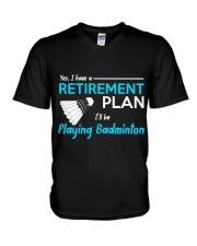 I Will Be Playing Badminton V-Neck T-Shirt thumbnail