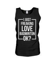 I Just Freaking Love Badminton Unisex Tank thumbnail