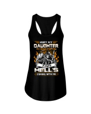 HURT MY DAUGHTERS - I'M COMING FOR YOU AND HELL'S  Ladies Flowy Tank thumbnail